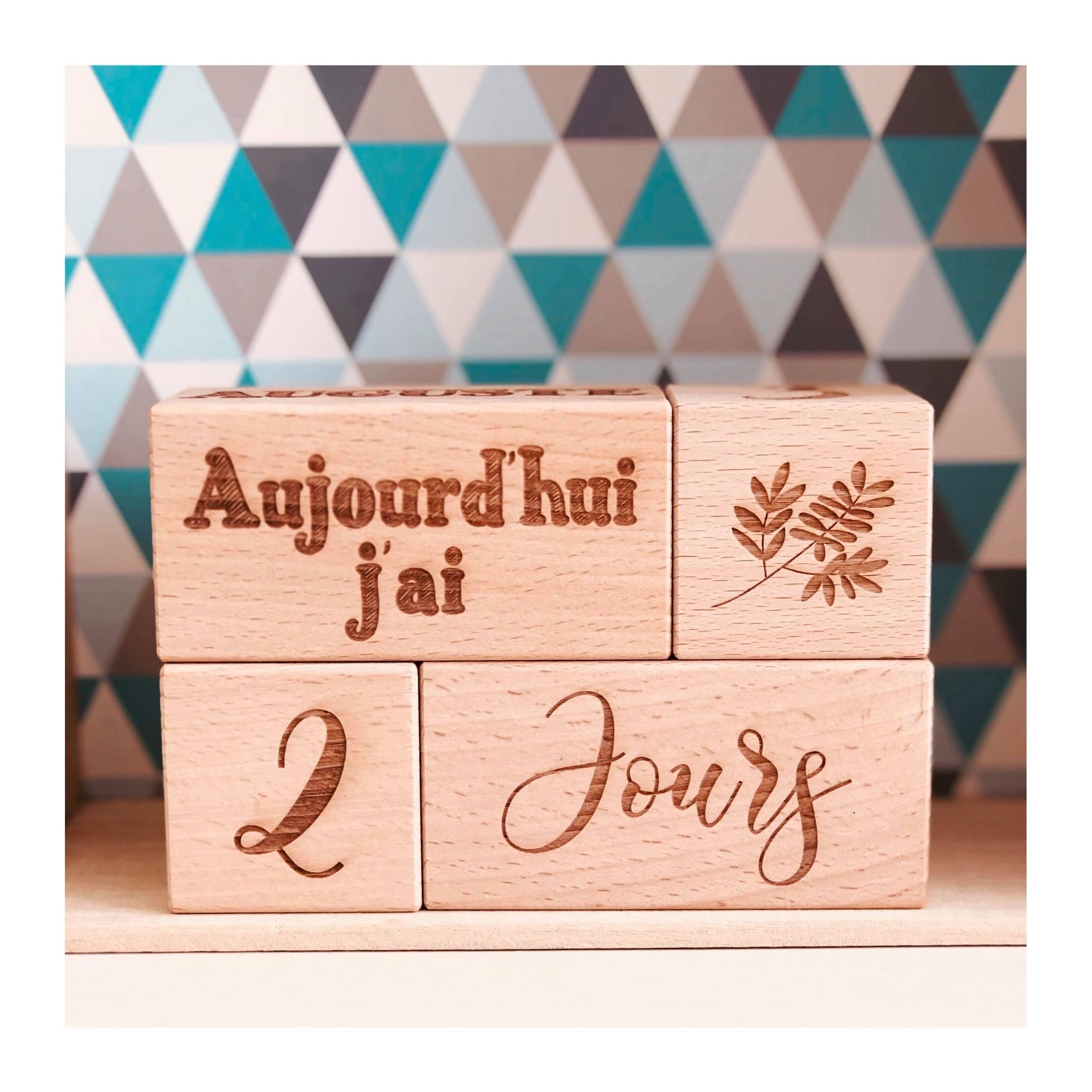 Cubes Etapes personalisés en bois